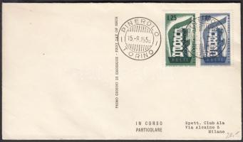1956 Europa CEPT sor Mi 973-974 FDC