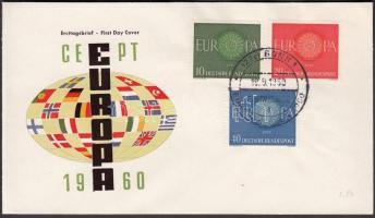 1960 Europa CEPT sor Mi 337-339 FDC