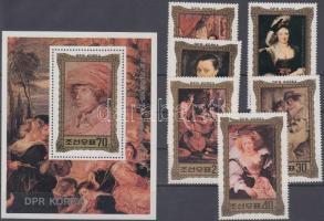 Rubens paintings set + block, Rubens festmények sor + blokk