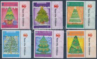2006 Europa CEPT karácsonyfák ívszéli sor Mi 1325-1330