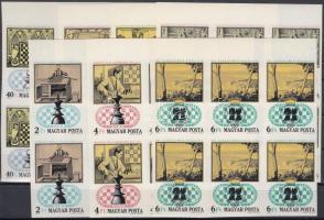 1974 Sakk (II) ívszéli vágott hatostömbök (150.000)