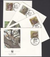 1988 WWF Kisméretű macskafajták sor Mi 1734-1737 4 FDC