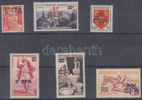Definitive set, 2 stamp with overprint Forgalmi 2 felülnyomott sor