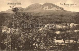 Zheleznovodsk; Gora Beshtau / Beshtau mountain, view from railway station