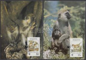 1986 WWF majmok sor Mi 184-187 4 CM