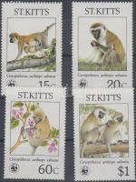 1986 WWF majmok sor Mi 184-187