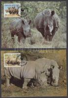 1987 WWF rinocéroszok sor Mi 528-531 4 CM