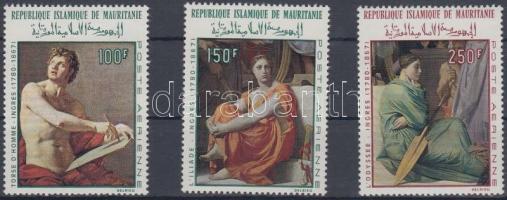 1968 100 éve hunyt el Dominique Ingres festő sor Mi 344-346