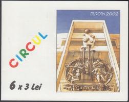 2002 Europa CEPT cirkusz bélyegfüzet MH 0-5 (Mi 429)
