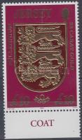 2000 Forgalmi: Jersey címere aranyfóliás ívszéli bélyeg Mi 920
