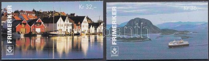 1995 NORDEN turizmus 2 bélyegfüzet Mi 1176 x - 1177 x