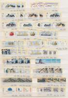 2002 3 db teljes automata bélyeg sorozat (öntapadós) Mi 76-96, értékenként 0,20 / 0,25 / 0,50 Euro névértékben berakólapon
