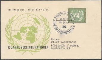 1955 10 éves az ENSZ Mi 221 FDC