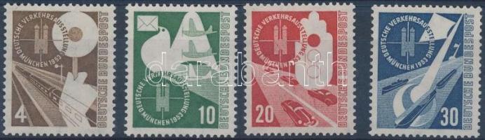 1953 Német közlekedési kiállítás München sor Mi 167-170 (167 halvány ívszínátnyomat)