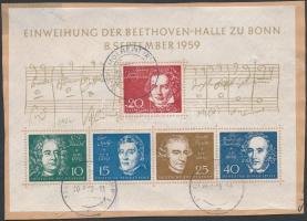 1959 Beethoven blokk kivágáson Mi 2