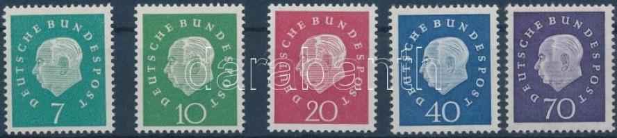 1959 Heuss sor Mi 302-306