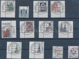 2001 Forgalmi 12 klf normál és ívsarki bélyeg első napi bélyegzéssel Mi 2156-2159, 2176-2177, 2197, 2206, 2210-2211, 2224-2225