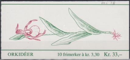 1992 Orchideák bélyegfüzet Mi 1088-1089 (MH 18)