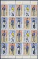 1986 Történelmi postai egyenruhák ívszéli húszastömb Mi 2997 II - 3000 II