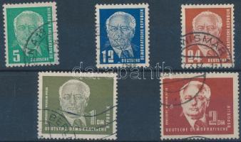 1952/1953 Wilhelm Pieck elnök sor Mi 322-326