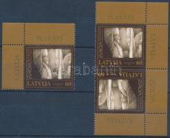 Europa CEPT corner stamp + corner reverse pair, Europa CEPT ívsarki bélyeg + ívsarki fordított pár
