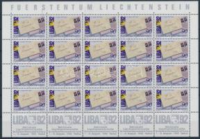 LIBA National Stamp Exhibition minisheet, LIBA nemzeti bélyegkiállítás kisív