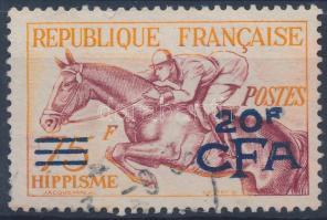 Horse Sport overprinted stamp Lovassport felülnyomott bélyeg