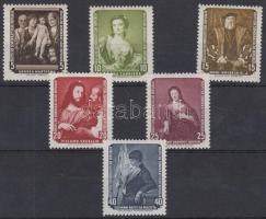 1957 Festmény sor Mi 586-591
