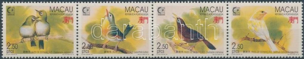 1995 SINGAPORE´95 bélyegkiállítás: énekesmadarak négyescsík Mi 814-817