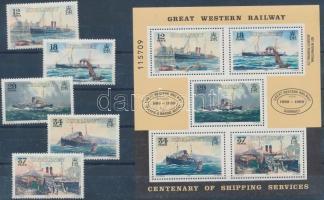 1989 100 éves a Weymouth - Csatorna-szigetek-hajózási útvonal sor Mi 460-464 + blokk Mi 5