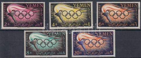 1960 Nyári olimpia sor Mi 200-204