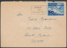 1950 Levél UPU bélyeggel Kanadába