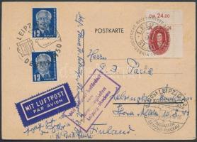 1950 Légi képeslap Finnországba bélyegkiállítási alkalmi bélyegzéssel