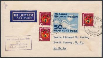 1951 Légi levél az USA-ba