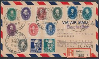 1950 Ajánlott légi levél a Dominikai Köztársaságba / Registered airmail cover to Dominican Republic