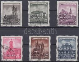 1955 Újjáépített történelmi épületek Mi 491-496