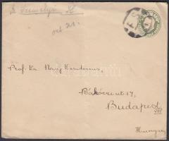 ~1905 Magán díjjegyes boríték Budapestre