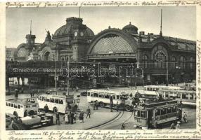 Dresden, Hauptbahnhof / railway station, tram, autobus