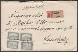 1922 (3. díjszabás) Távolsági ajánlott levél