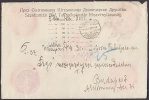 Insured cover to Budapest, Pénzeslevél Budapestre