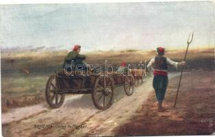 Going to the market; Armenian folklore, Raphael Tuck Oilette Wide Wide World Series No. 7691, Úton a piacra; örmény folklór