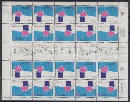 Greeting stamps stampbooklet sheet, Üdvözlőbélyeg bélyegfüzetív