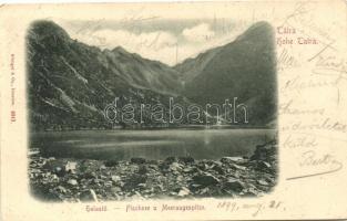 1899 Tátra, Halastó és Tengerszem-csúcs / lake, mountain peak (Rb)