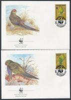 1987 WWF papagájok sor Mi 421-424 4 FDC
