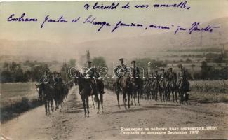 1912 Cavallerie en campagne / Bulgarian cavalrymen, 1912 Bolgár lovasezred