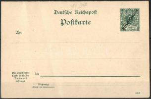 Marshall-szigetek 1898 Használatlan díjjegyes válaszos levelezőlap (enyhe törés) P 3 II