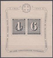Swiss stamp centenary block, 100 éves a svájci bélyeg blokk