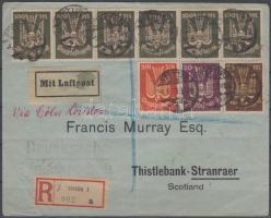 1923 Ajánlott légi nyomtatvány Skóciába / Airmail printed matter to Scotland