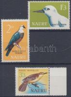1965 Őshonos madarak sor (közte ívszéli bélyeg) Mi 52-54