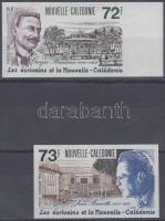 Writers imperforated set (with margin), Írók vágott sor (közte ívszéli bélyeg)